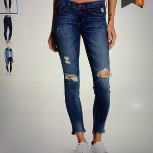Nordstrom SP Black Distressed Skinny Jean